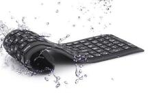 USB Flexible Foldable Silent Silicon Keyboard for Computer Laptop PC Black