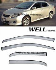 Well Visors Premium Series Side Window Visors Deflector For 09-13 Toyota Corolla