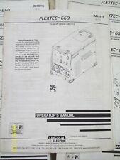 LINCOLN ELECTRIC FLEXTEC 650 OPERATOR'S  MANUAL WELDING  IM10115