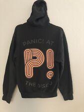 Panic At The Disco Hoodie Sweater Retro Unisex Black Orange Logo Zipper Size S