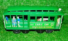 Vintage 1960s Cable Car 504 San Francisco Municipal Railway Green Bells Work