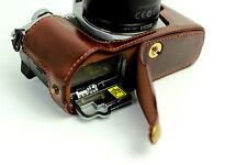 Coffee half leather case bag grip cover for Olympus E-M5 Mark II EM5II, EM5 II