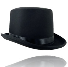 BLACK TOP HAT MAGICIANS, VICTORIAN, TOP HAT FOR MENS ADULT PARTY ACCESSORIES UK