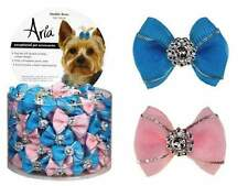 Dog Puppy Grooming Bow - Aria - Canister of 100 Bows - Maddie - 1/2""