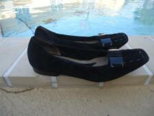 MARNI BLACK SOFT SUEDE BUCKLE DETAIL FLATS SANDALS Sz 36.5M MADE IN ITALY