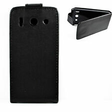 Black Leather Magnetic Flip Phone Case Cover Fits For HUAWEI Ascend G510