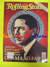 ROLLING STONE USA MAGAZINE 1085/2009 B. Obama Lars Ulrich Michael Jackson No cd
