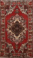 Semi Antique Geometric Traditional Area Rug Handmade Oriental Carpet Wool 4x7