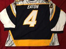 Mark Eaton #4 Nashville Predators Game Used Worn NHL Hockey Jersey Size 56 LOA