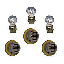 3 NEW Tail Lamp Light Sockets & Bulbs Fits Jeep Grand Cherokee & Caravan 4676589