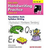 Handwriting Practice Yrs 3 to 4