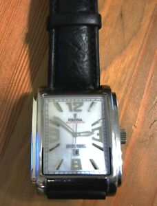 Festina Automatic Watch Square Case Mother-of-Pearl Dial Stainless Steel #16080