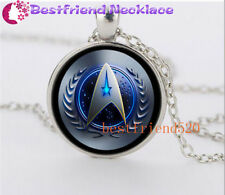 NEW Star Trek Movie Steampunk Glass Silver necklace for men woman Jewelry#YZ41