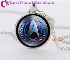 NEW Star Trek Movie Steampunk Glass Silver necklace for men woman Jewelry#YZ41