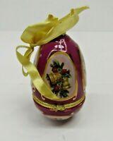 Mr Christmas Musical Egg Ornament Trinket Valerie Parr Hill Purple