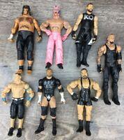 WWE Mattel Jakks Basic Elite Wrestling Figure Lot Of 7 Rey Mastero Umaga Owens