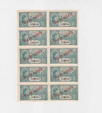 portugal 1919 war tax,block of ten,MNH (bottom two MH)        q1823