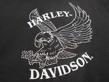 NEW Womens Harley Davidson Black Hoodie Jacket with BLING Rhinestones Size Large