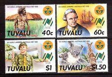 TUVALU 1988 Australia Bicentennial + jamboree set MUH