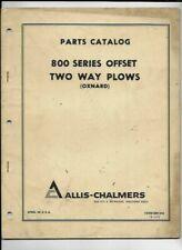 Allis Chalmers 800 Series Offset Two Way Plows Oxnard Parts Catalog