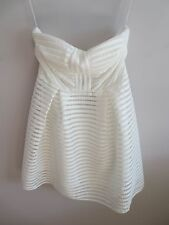 White Textured Bandeau Skater Dress, size 12