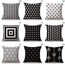 45cm Sofa Pillow Case Cotton Linen Throw Cushion Cover Home Decor Car Bed Waist