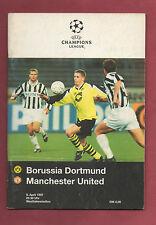 Orig.PRG  Champions League 96/97  BORUSSIA DORTMUND - MANCHESTER UTD  1/2 FINALE