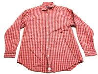 Vineyard Vines Mens Red Plaid Long Sleeve Button Front Murray Shirt Size Large