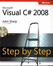 Microsoft Visual C# 2008 Step by Step, Sharp, John, Good Book