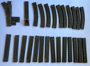 Vintage Job Lot. 23 pieces TTR Trix Twin Railway 3 Rail Bakelite Tracks Buffer