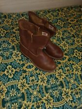 $440 RED WING 9 PULL ON BROWN PECOS Steel Toe Work Boots 966 Made USA, szUS8/uk7