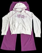 "ARENA ""Passo"" Damen Frauen Jogging Trainings Anzug weiß / lila Gr. XS"