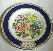ROYAL DOULTON ROYAL WEDDING BOUQUET PLATE MARRIAGE OF CHARLES AND DIANA 1981