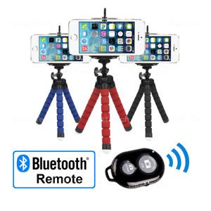 For Apple iPhone 4S Phone Camera Tripod Flexible Gorilla Bluetooth Remote Selfie