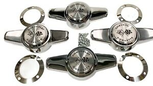 1956-1962 Corvette Hubcap/Wheel Cover Spinners w/ Retainers & HW- Set of 4 - New