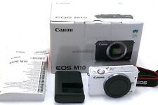 Canon EOS M10 digital camera body white boxed MINT
