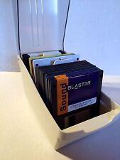 """Vintage Software 3.5"""" Floppy Disk Lot Windows 3.1 SoundBlaster Flightstick Case"""