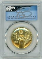 2015-W $100 Liberty Gold HR MS70PL PCGS First Strike T. Cleveland Blue Eagle
