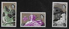 Malta Scott #272-74, Singles 1959 Complete Set FVF MH