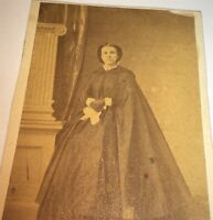 Rare Antique American Civil War Fashion ID'd Beauty Lizzie Van Kleeck CDV Photo!