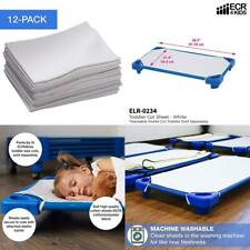 Ecr4Kids 12-Pack Toddler Cot Sheet with Elastic Straps, Size