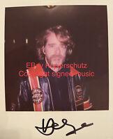 🔝HELGE SCHNEIDER - Original signiertes Polaroid Foto - Unikat!