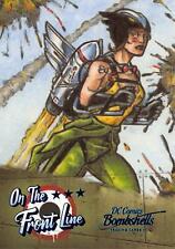 DC Comics Bombshells III (2019) ON THE FRONT LINE Insert Card FL5 / HAWKGIRL