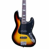 4 Strings Electric Bass Guitar JB Style Sunburst Color Strings Thru Body