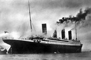 OLD PHOTO The White Star Liner Titanic At Sea 1912