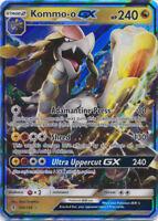 Pokemon 1x NM-Mint Holo Kommo-o GX - 100/145 - Ultra Rare Guardians Rising