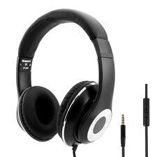Headphones Adjustable Dj Over Ear Headset for Phones MP3/4 DVD PC Kindle Black