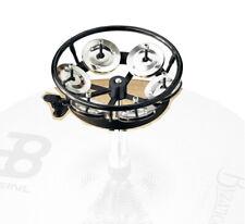 Meinl THH1BK Professional Hi-Hat Tambourine, 1 Row Steel Jingles, Black