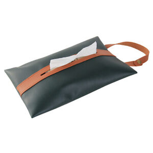 PU Leather Tissue Box Cover Home Car Storage Case Papers Dispenser Home