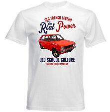 Vintage Coche francesa Peugeot 104 poder real-Nuevo Algodón Camiseta